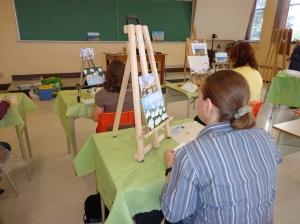 Peinture dans l'atelier